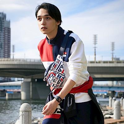 FILA #日潮攻略首部曲 長袖半門襟T恤-白色 1TEU-1402-WT