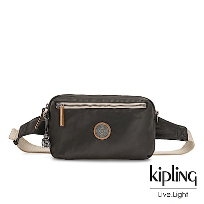 Kipling 邊緣地帶極致黑方形腰包-HALIMA-EDGELAND系列