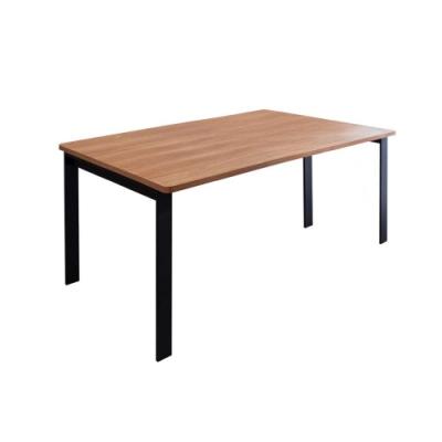 Birdie-工業風5.3尺鋁合金長桌/餐桌會議桌/工作桌-T1型160×90cm-160x90x74cm