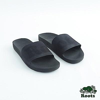 Roots男鞋- 經典皮革輕便鞋-黑