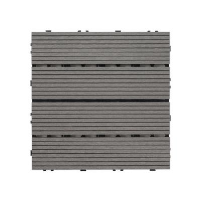 樂嫚妮 塑木地板/防水防腐/耐磨/造景/拼接/9片0.25坪-深灰色