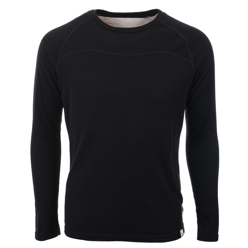 法國【EiDER】男保暖排汗機能型圓領排汗衣黑