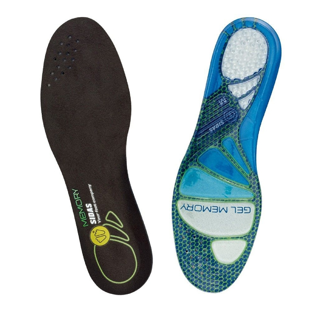 SIDAS 鞋墊 Cushioning Gel Memory 緩震 抗菌 動態凝膠 舒適 藍 黑 SI301525