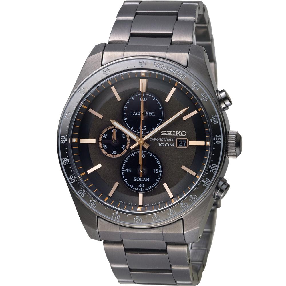 SEIKO 星際穿越太陽能計時腕錶(SSC733P1)44mm