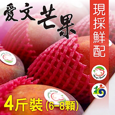 Mango House 枋山愛文芒果 4斤/盒(6~8顆/盒) 輸日等級蘋果檨