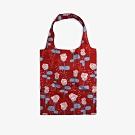 Dailylike 摺疊購物袋單肩包L-18朵朵紅玫瑰