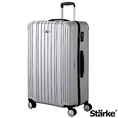 Starke 旅人系列 29吋TSA海關鎖拉鏈行李箱 -銀色