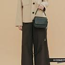 H:CONNECT 韓國品牌 配件 -仿皮革拼接小包-黑