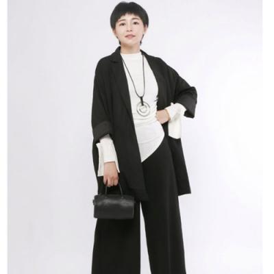 設計所在Style-西服上衣港風原創設計寬鬆休閒中長西裝外套