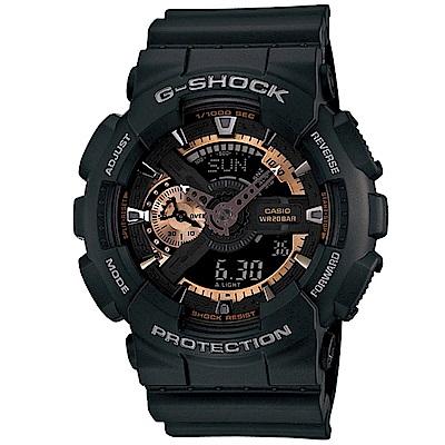 G-SHOCK 染金炫彩新重機裝置Man概念錶(GA-110RG-1)-黑/55mm