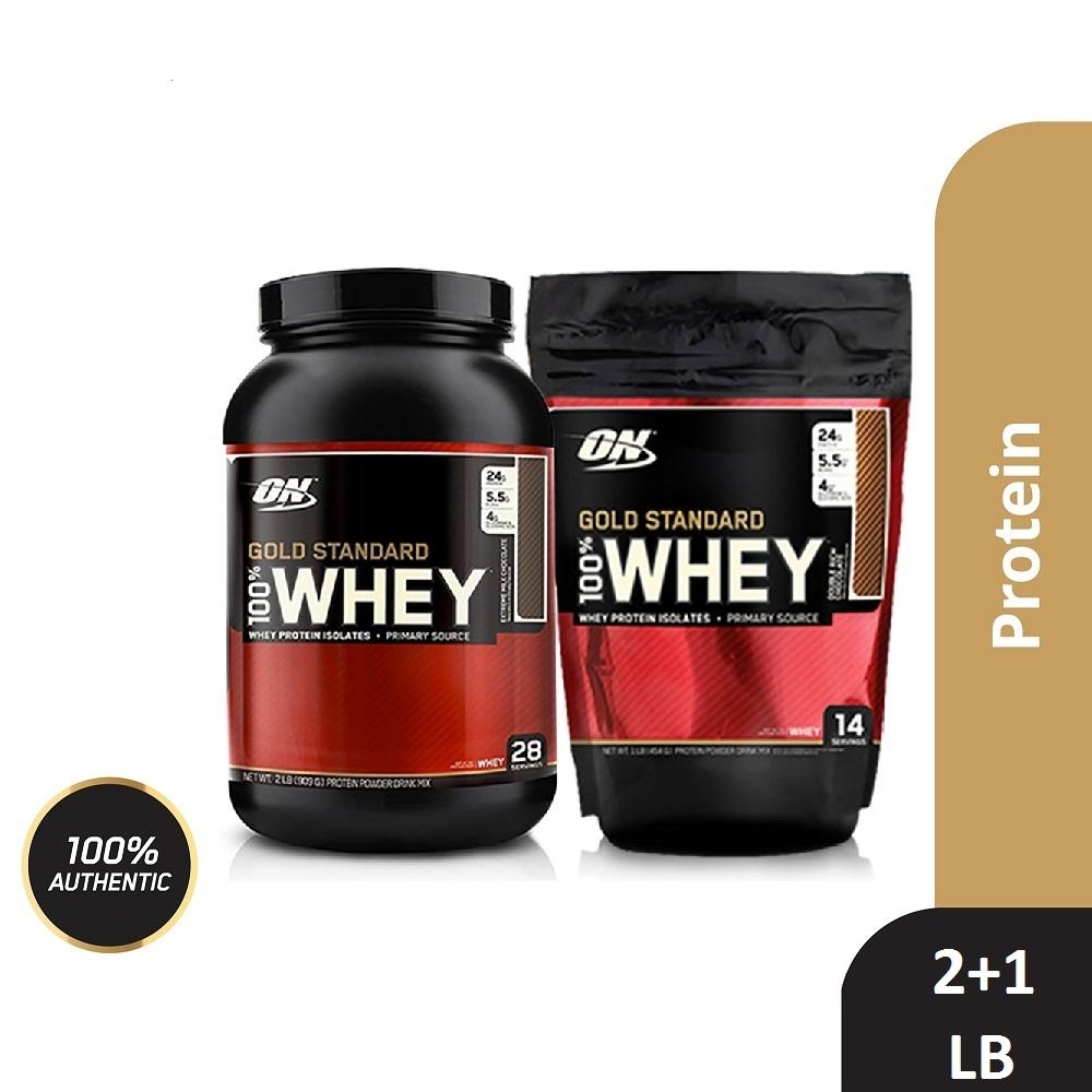 [美國 ON] 金牌 WHEY 乳清蛋白(1磅+2磅)