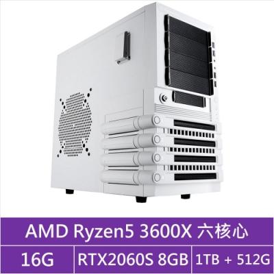 (無卡分期12期)技嘉X570平台[浩瀚日王]R5六核RTX2060S獨顯電玩機