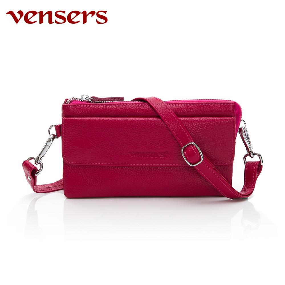 vensers 小牛皮潮流手拿包(ND6800202梅紅)