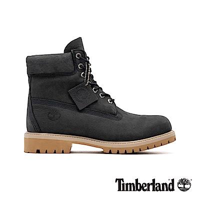 Timberland 男款深灰色磨砂革經典6吋靴|A1YPP