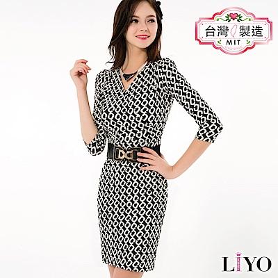 LIYO理優MIT幾何印花洋裝