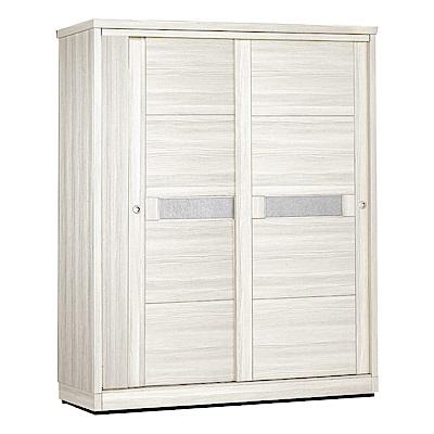 綠活居 賈柏時尚5尺推門衣櫃(單抽屜+吊衣桿+開放層格)-150x60x210cm-免組