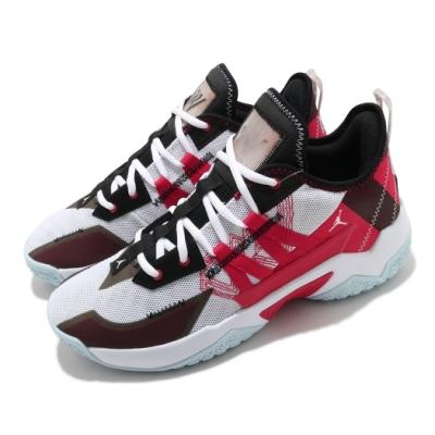 Nike 籃球鞋 Jordan One Take II 男鞋 避震 包覆 喬丹 明星款 運動 球鞋 白 紅 CW2458106