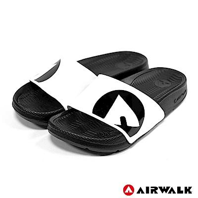 【AIRWALK】防滑耐磨室內外拖鞋-童款-白色