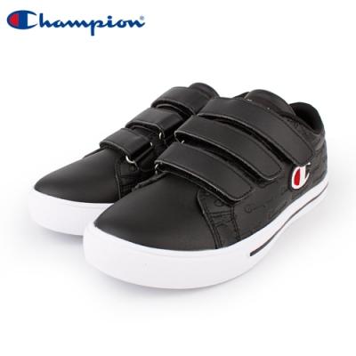 【Champion】Court Velcro Full C 魔鬼氈休閒鞋 女鞋-黑(WFLS-9008-10)
