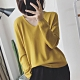 初色 純色V領包心沙針織上衣-共6色-(F可選) product thumbnail 1