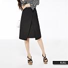 【KiKi】上班族系列質感-及膝裙(二色)