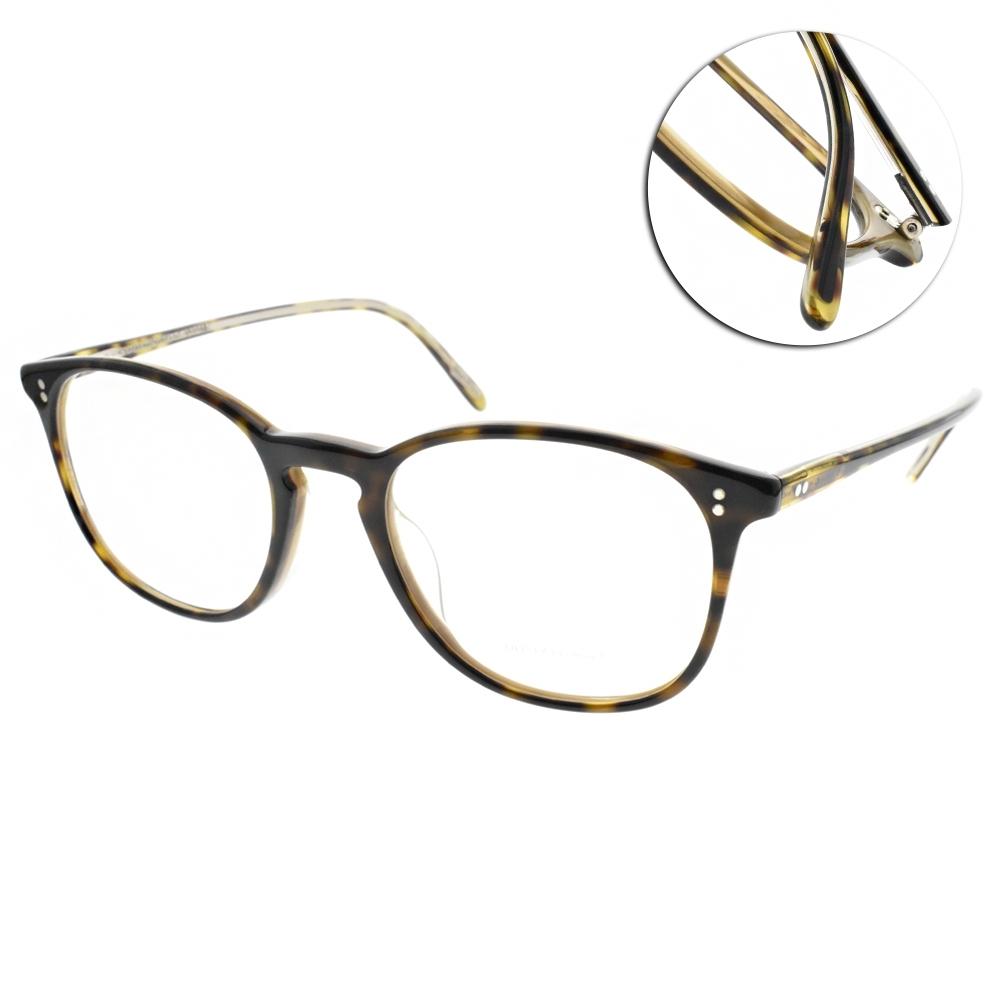 OLIVER PEOPLES光學眼鏡  質感方框款/深琥珀-咖啡#FINLEY V1666