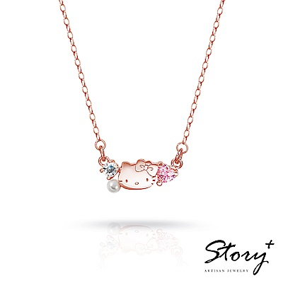 STORY故事銀飾-PinkHolic 閃亮粉紅時代項鍊-HelloKitty款