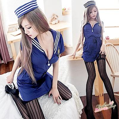 水手服 角色扮演服深藍水手制服cosplay服裝 流行E線