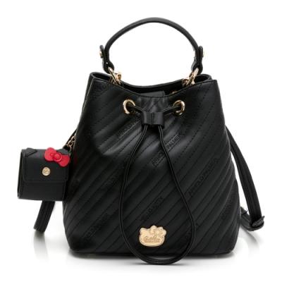 Kitty聯名- 水桶包 BRILLIANT 璀璨系列-黑色