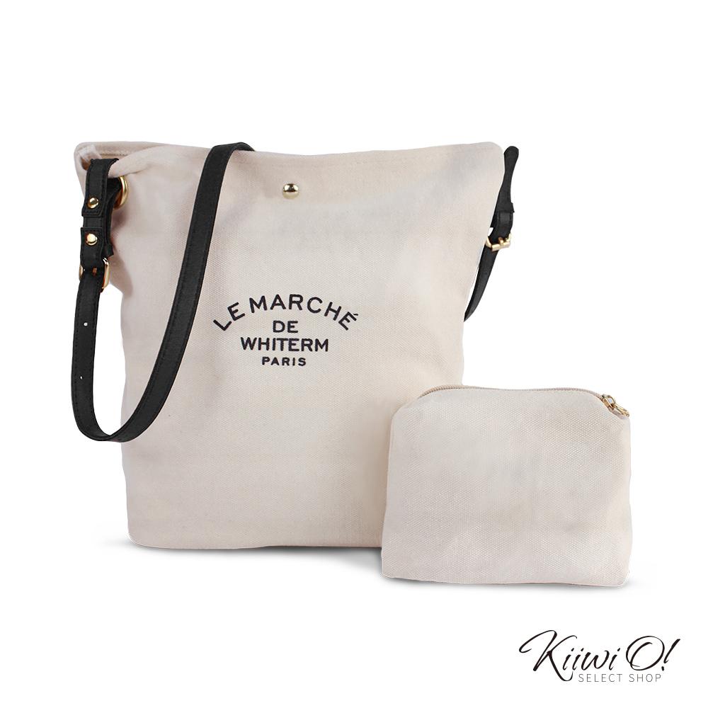 Kiiwi O! bucketbag | 簡約帆布水桶子母包 黑
