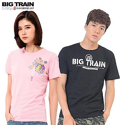 [時時樂限定]BIG TRAIN 經典LOGO圖文短T-男女款(8款選)