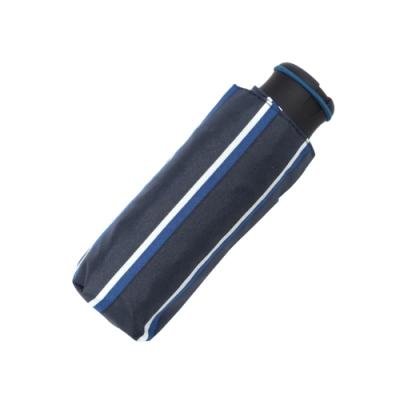 HUS 藍白豎條抗UV迷你口袋傘