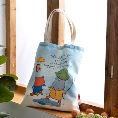 義大利Fancy Belle X Mandie Kuo 下雨天的禮物 帆布購物袋