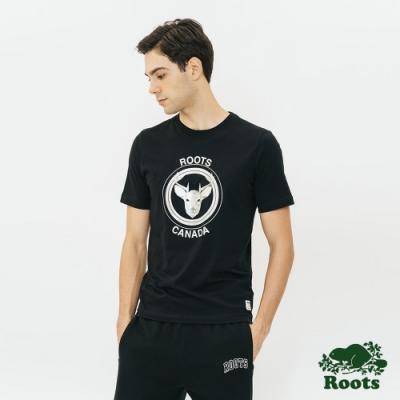 ROOTS 男裝- 野生動物短袖T恤-黑