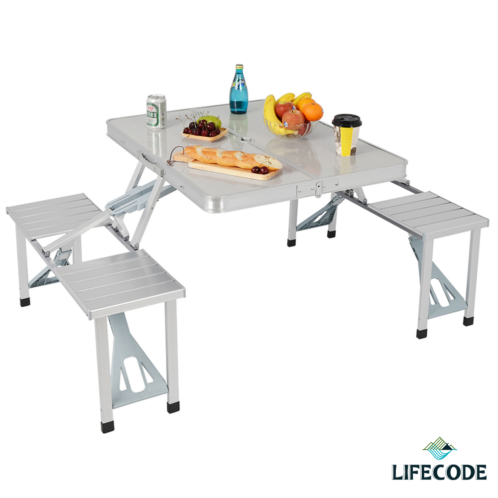 LIFECODE 行動派-鋁合金折疊桌椅 @ Y!購物
