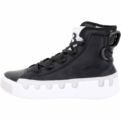 Y-3 Kasabaru 鋸齒底輕量尼龍包覆高筒繫帶運動鞋(男款/黑色)