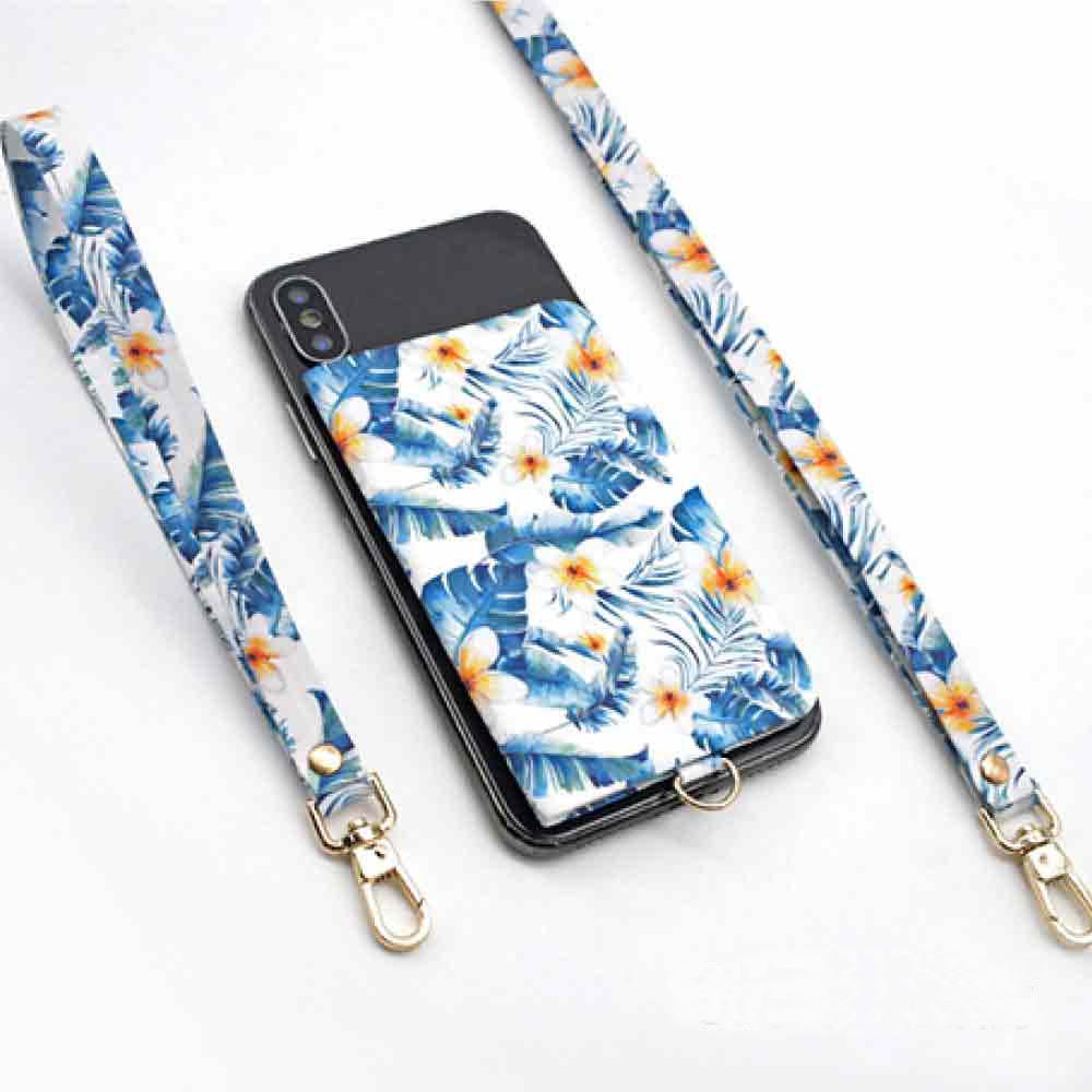 【ekax】手機背貼卡片夾/長頸繩/短手腕繩(夏日風情) @ Y!購物