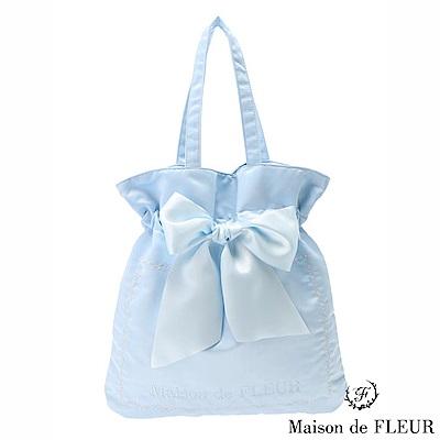 Maison de FLEUR   花邊刺繡蝴蝶結絲帶手提包