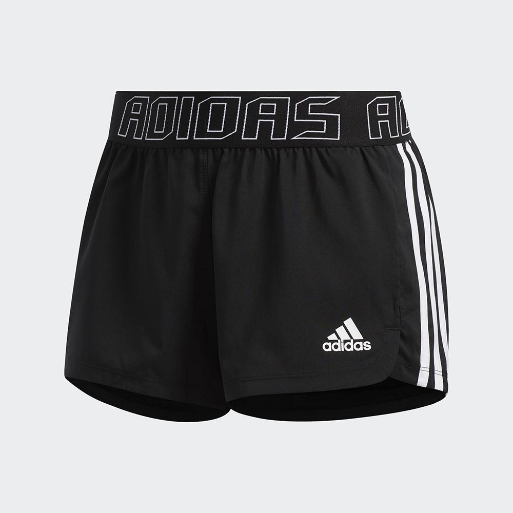 adidas 運動短褲 訓練 慢跑 健身 女款 黑 GC7685 PACER 3S WVN SH