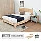 時尚屋 丹麥3.5尺床片型3件組-床片+床架+床頭櫃-藍(不含床墊) product thumbnail 2
