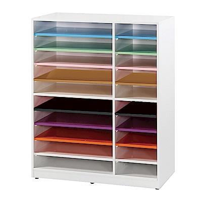 文創集 蘿倫環保2.8尺塑鋼20格置物櫃/收納櫃-84.5x40x108cm-免組