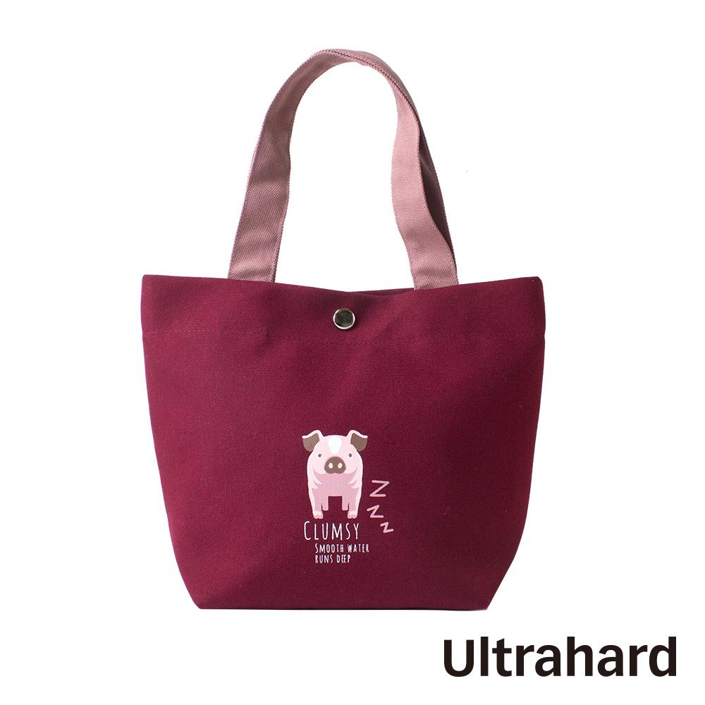 Ultrahard 竹林七閒小提袋- 小豬(紅)