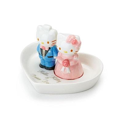 Sanrio HELLO KITTY&DANIEL浪漫婚禮系列愛心造型迷你陶瓷戒盤/飾品盤