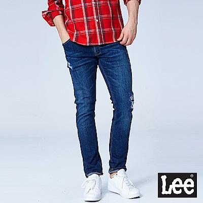 Lee 709低腰合身小直筒牛仔褲/101+中深藍