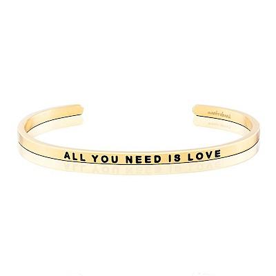 MANTRABAND All You Need Is Love 只要有愛就 金色悄悄話手環