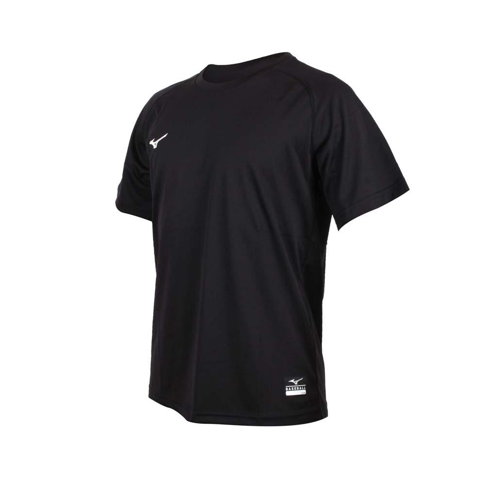 MIZUNO 男棒球練習短袖T恤-美津濃 吸濕速乾 運動 上衣 台灣製 12TC0L1109 黑白
