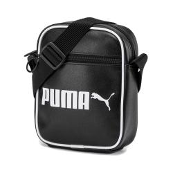 PUMA-男女Campus小側背包-黑色