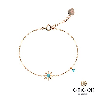 amoon 韓情脈脈系列 絢麗  14 K金寶石手鍊