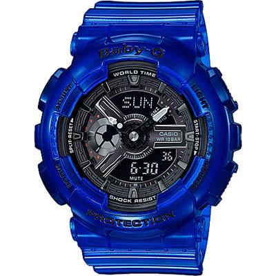 BABY-G 海洋雙顯女錶-海水藍(BA-110CR-2A)/43mm @ Y!購物