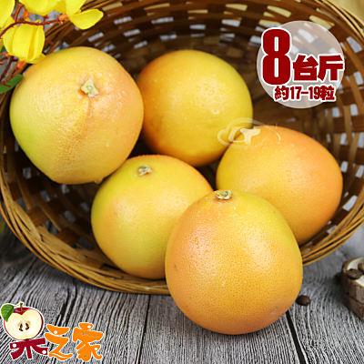 【果之家】特選薄皮紅肉葡萄柚8台斤(約17-19顆)
